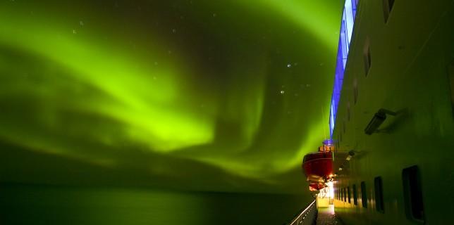 La Aurora Boreal desde cubierta