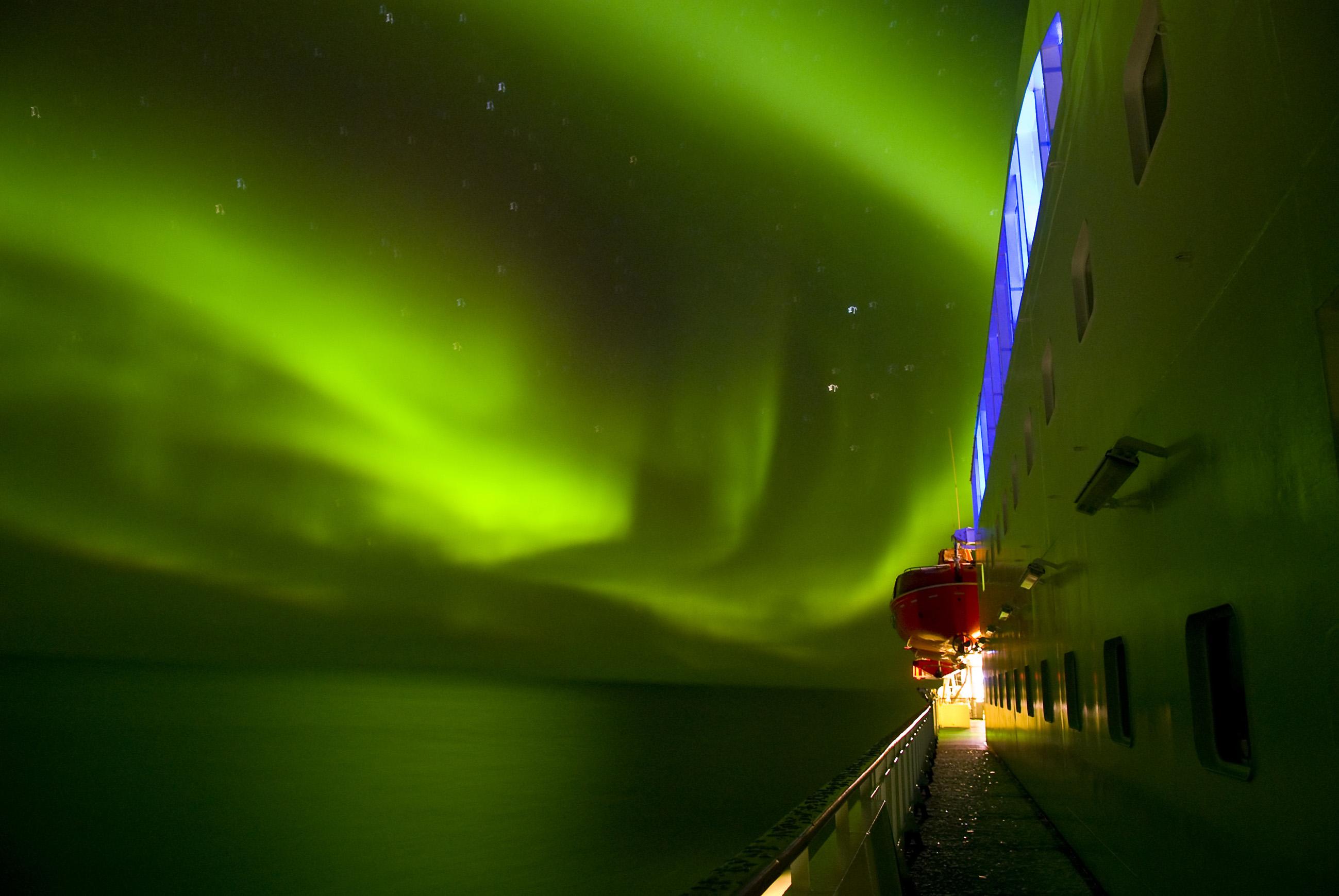 Navidad en un barco en Noruega
