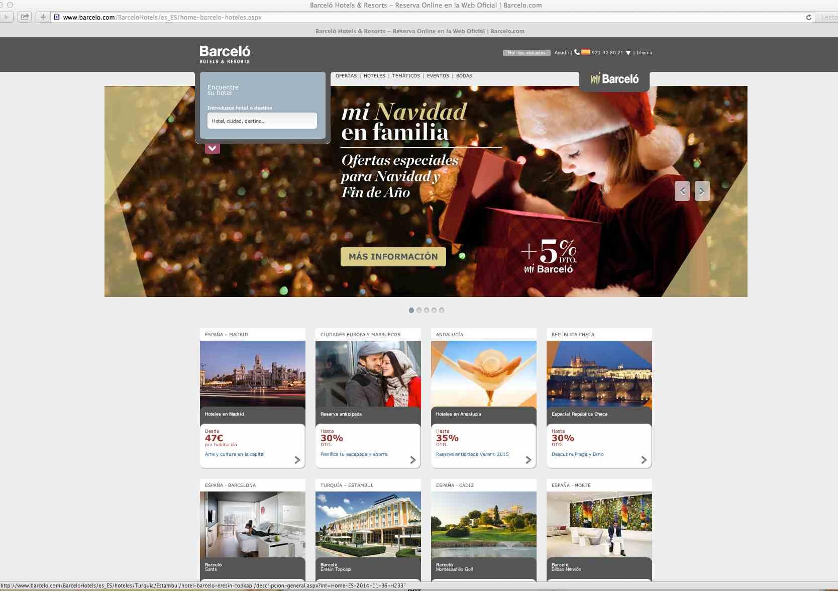 Nueva web de Barceló Hoteles y programas para familias