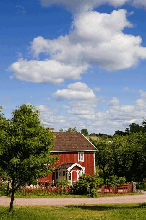 Cabañas suecas rojas Foto: Andreas Nordstrom imagebank.sweden.se