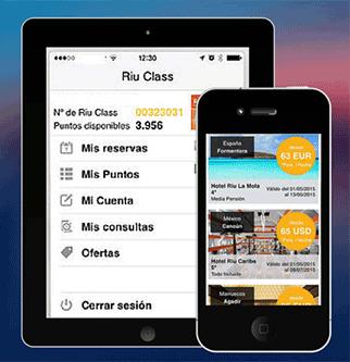 Nueva App de Riu Hotels para móviles y tablets