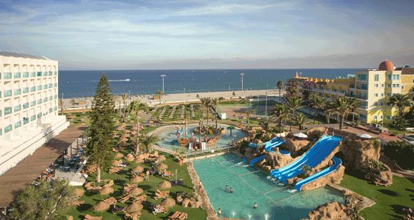 parque acuático en hotel Evenia de Roquetas de Mar