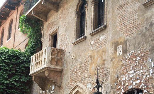 Balcón de Julieta en Verona. Foto: btr