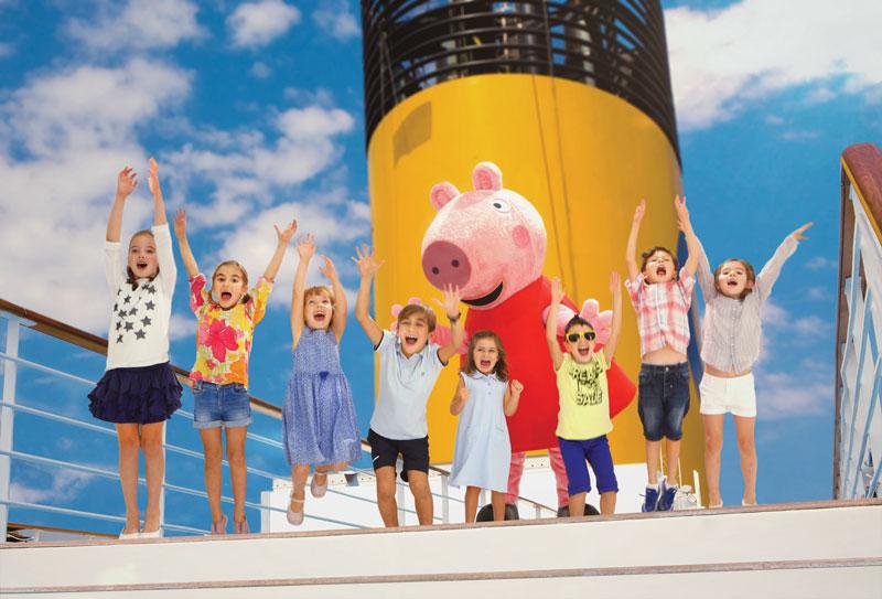 Unas vacaciones con Peppa Pig en Costa Cruceros