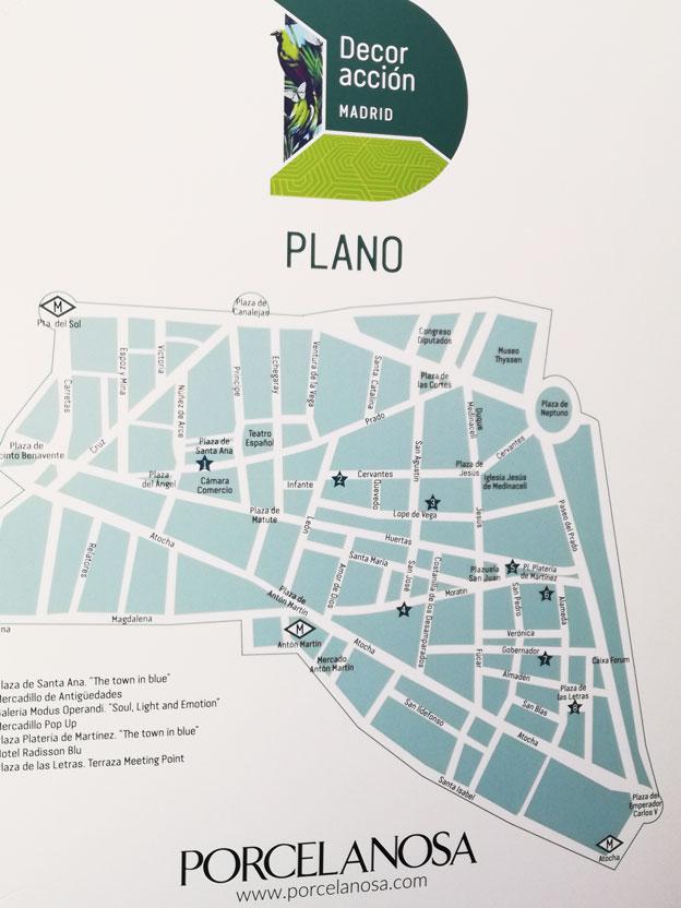 plano barrio de las letras Madrid