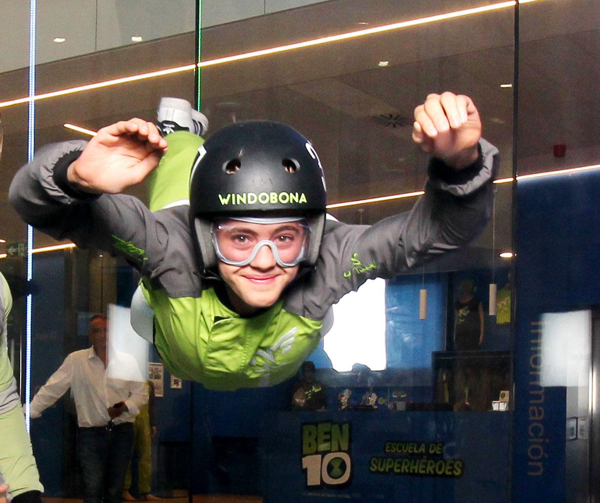 Volar en el túnel del viento en Windobona