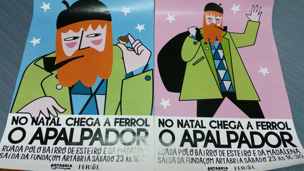 O apalpador y magia en Navidad en Ferrol