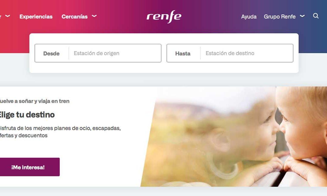 Renfe mejora su sistema de ventas on line