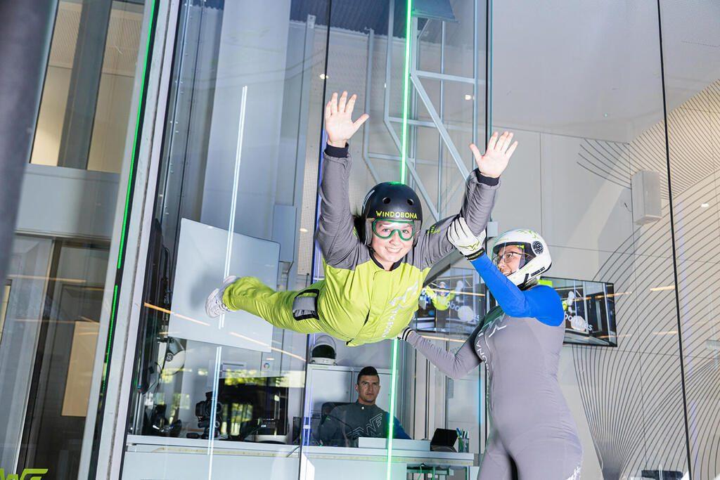 Actividades deportivas para colegios Vuelo túnel vient